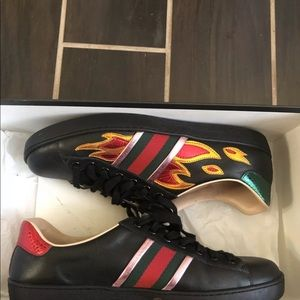 Gucci ace flames sneakers